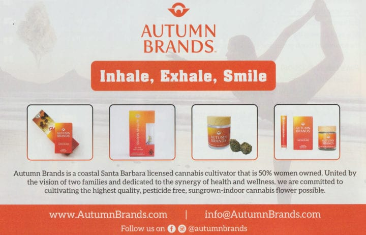 Autumn Brands in Sensi Mag – Oct. 2019